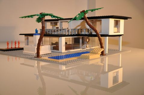 So much cooler than the Lego houses I built as a kid...