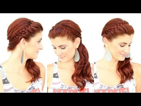 Lace Braided Headband - YouTube