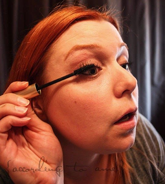Be sure that you wiggle the mascara wand into the base of the lashes before working