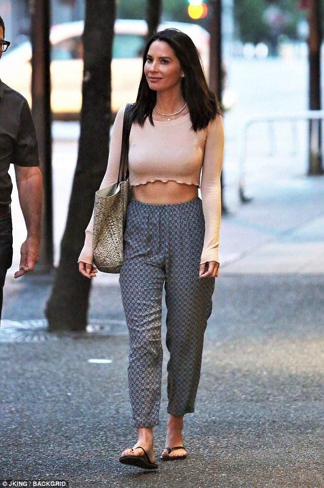 Fit and f-ab-ulous: Olivia Munn showed off her amazing abs while leaving a table read in a crop top