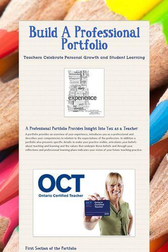 how to build a professional portfolio essay Free essay: career development portfolio table of  and sharp  methodologies that allow investors to build an efficient portfolio.