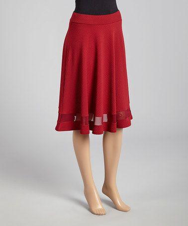 Look what I found on #zulily! Blood Red Skater Skirt #zulilyfinds