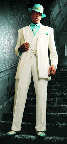 teal zoot suits | STACY ADAMS® ARGO REVO 3 PIECE SUIT