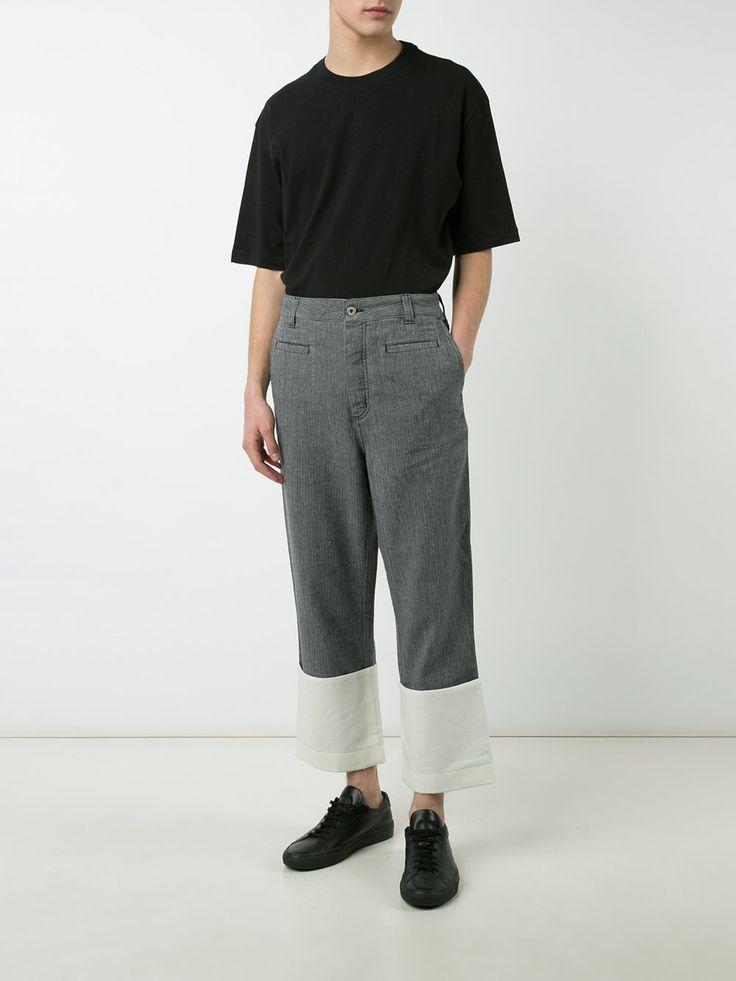 LOEWE pantalon crop à ourlets contrastants 590 €
