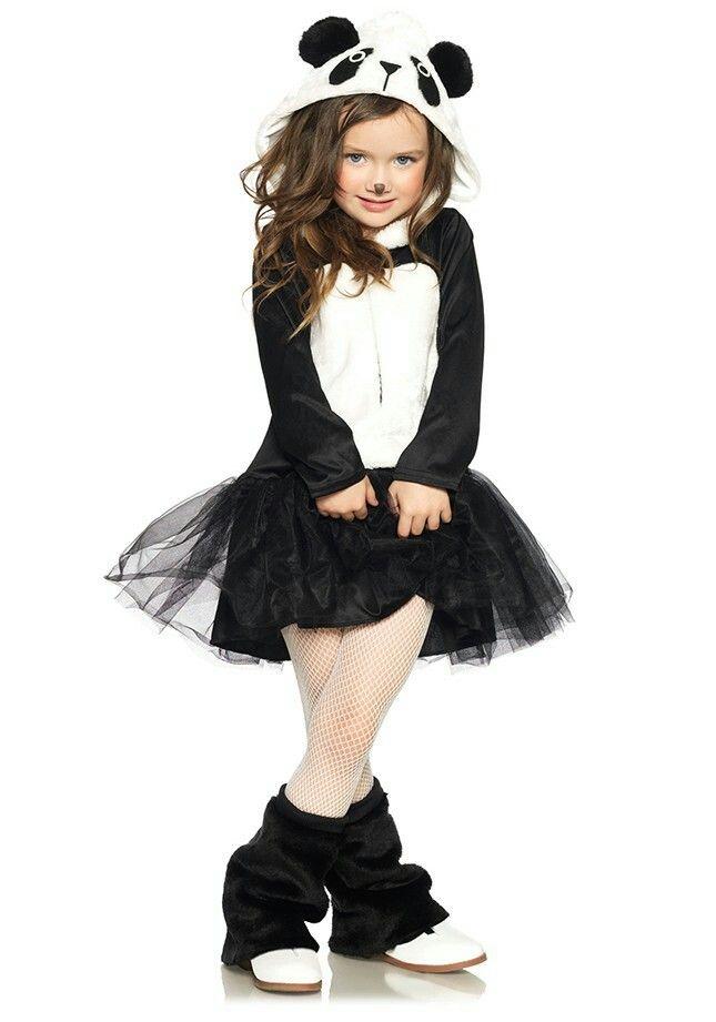 Cute panda kid little girl costume