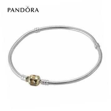 PANDORA STERLING SILVER BRACELET W/ 14K OR CLASP http://www.charmspandorasoldes.com/bracelets-pandora-pas-cher-pandora-sterling-silver-bracelet-w-14k-or-clasp