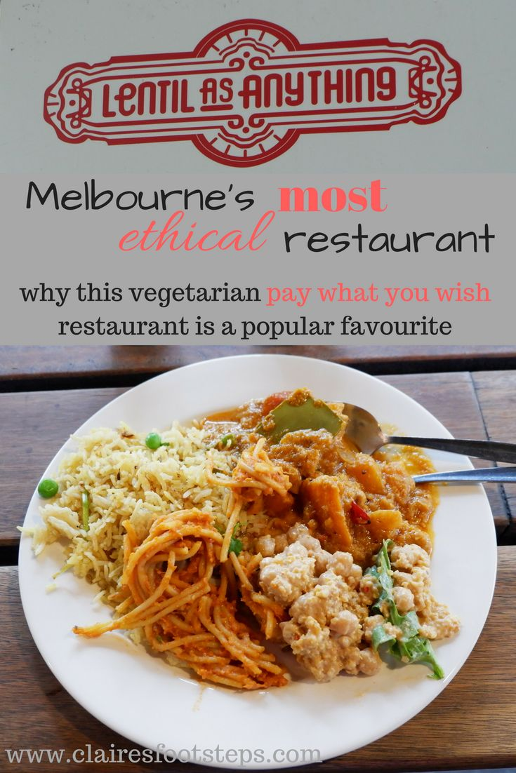 Visit Lentil as Anything next time you're in Melbourne to enjoy delicious vegetarian, ethical and sustainable food on a pay what you wish model.