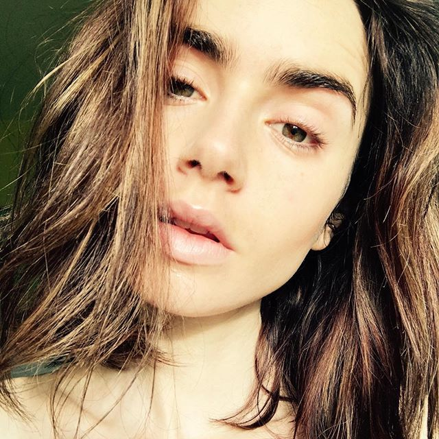 The actress is in good company. Stars including Adele, Drew Barrymore, and Alicia Keys have joined the makeup-free movement on Instagram. And yesterday, Collins added another fresh-faced selfie to Instagram—the complete opposite of the fairy-tale beauty look she wore a few weeks ago.