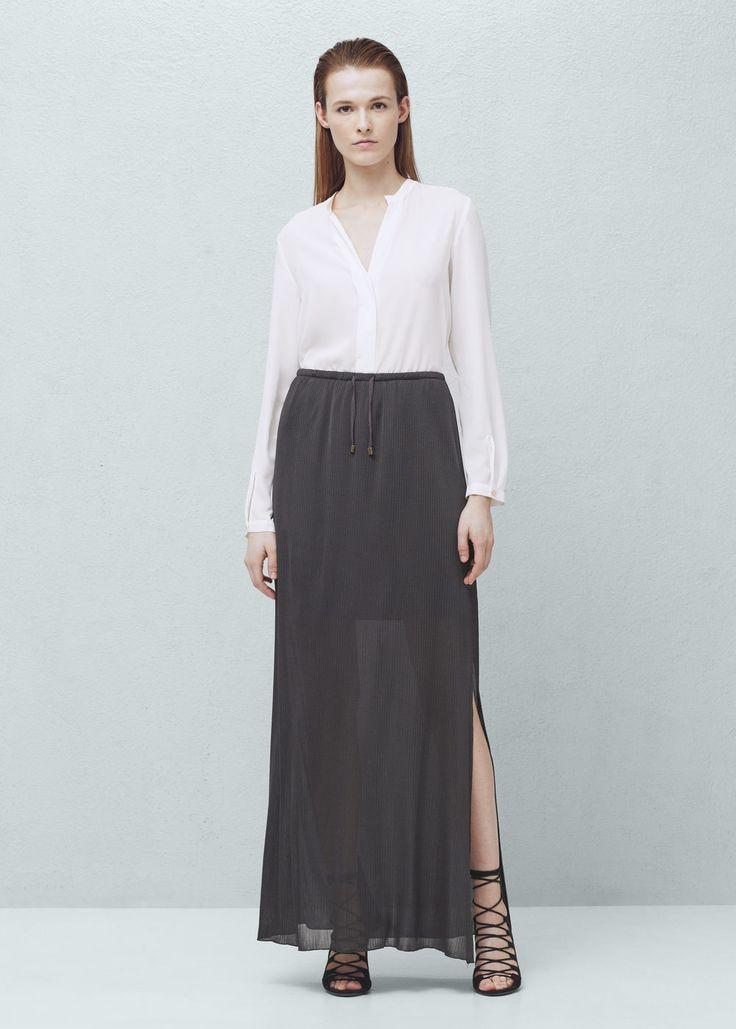 Falda larga textura | MANGO