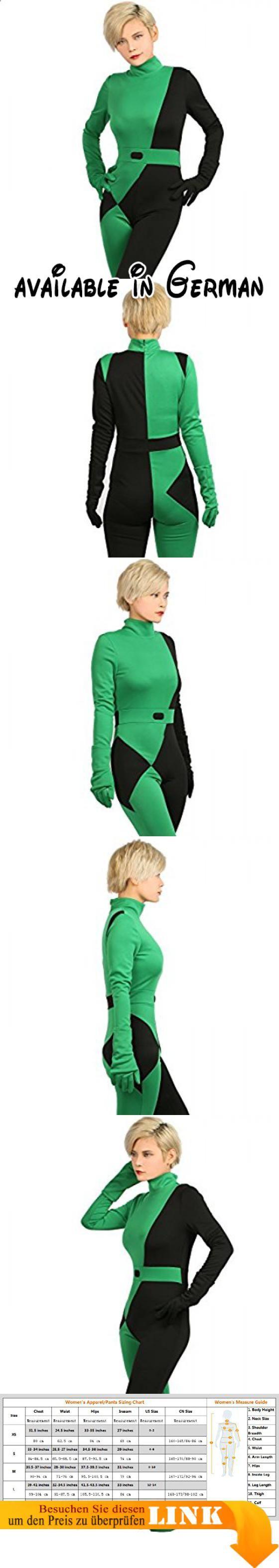 Halloween Kostüm Shego Grün Jumpsuit Damen Anime Cosplay Suit mit Zubehör für Erwachsene Verrücktes Kleid Kleidung. Inklusive: Ein Jumpsuit + ein Paar Handschuhe + Holster. Material: Polyester. Charakter: Shego. Hochwertiges Shego Kostüm, 100% nagelneu. Um sicherzustellen, dass das Kostüm für Sie mehr geeignet ist, Bitte bieten Sie uns Ihre Maße wie: Höhe, Brust, Taille, Hüfte und Schulter an Schulter #Toy #ACCESSORY