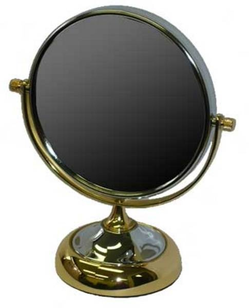 5 times magnification Chrome & Brass  vanity mirror.