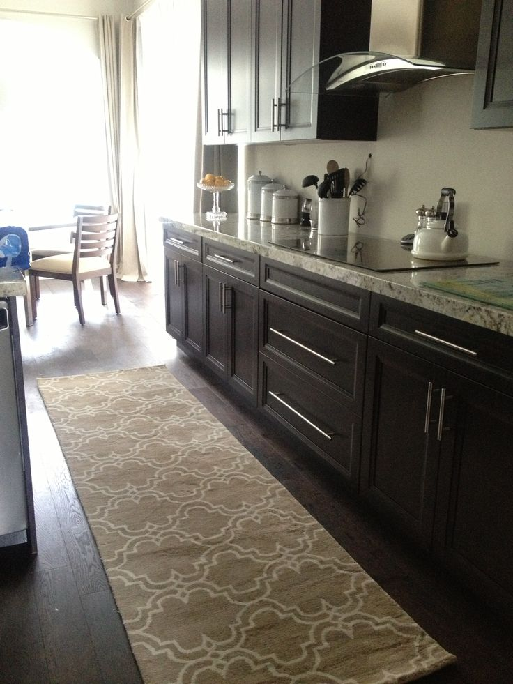 Got the kitchen runner, up next Backsplash installation! #potterybarn  scroll tile in mocha - 23 Best Kitchen Runner Ideas Images On Pinterest Kitchen Runner