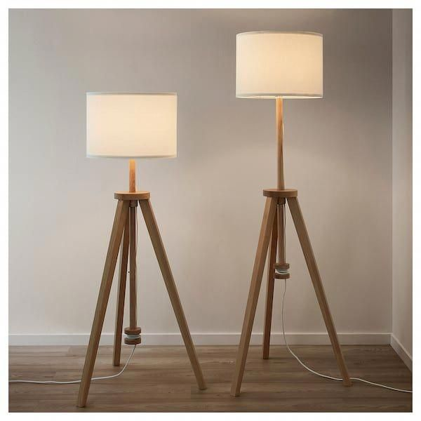 Lauters Floor Lamp Ash White Ikea Hanginglamps In 2020 Floor Lamp Ikea Lamp Lamp
