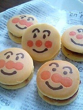 anpanman mini pancake sandwich