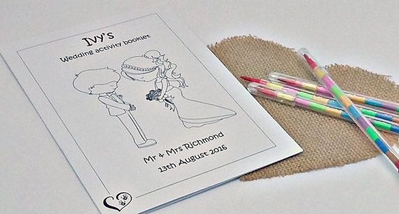 Wedding colouring pages kids wedding activity pack by PMPrinted