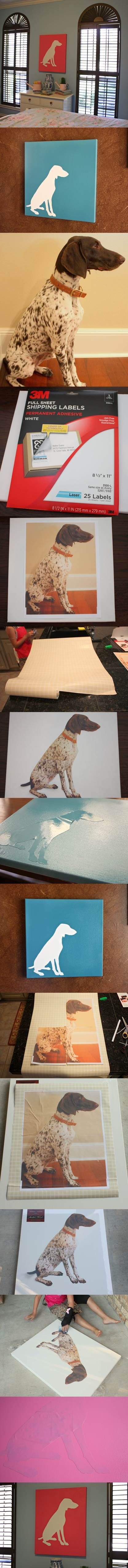 DIY Dog Silhouette Art 2