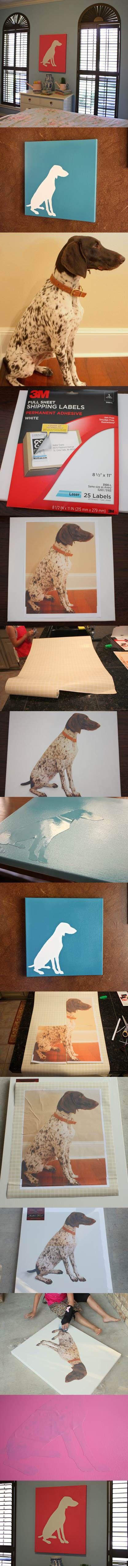 DIY Dog Silhouette Art 2
