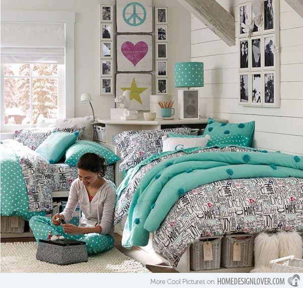 1000 ideas about teal teen bedrooms on pinterest Pretty room colors for girls