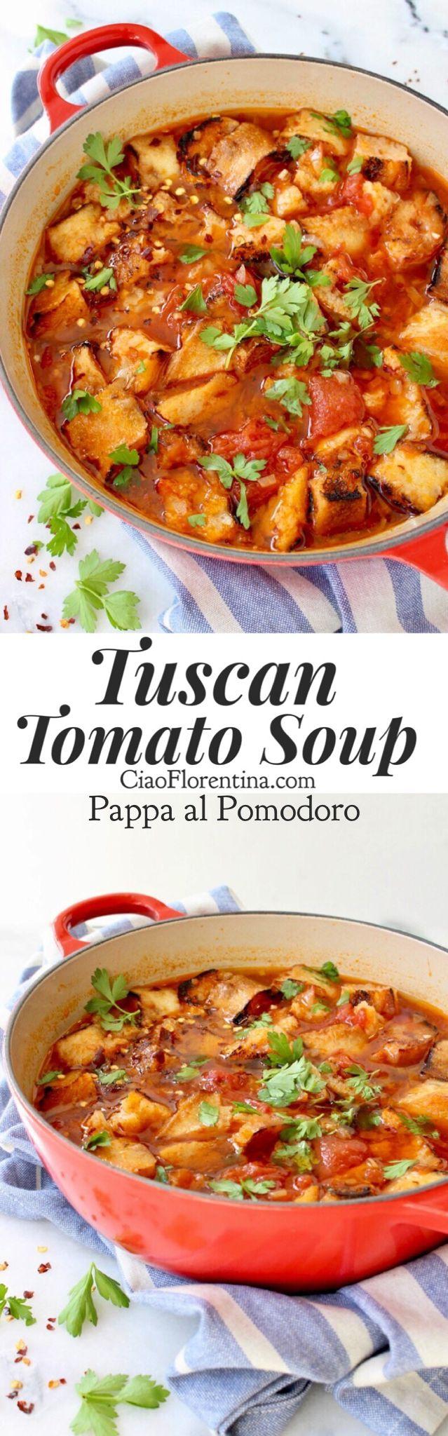 Authentic Tuscan Tomato Soup Recipe or Pappa al Pomodoro with Bread and Herbs   CiaoFlorentina.com @CiaoFlorentina