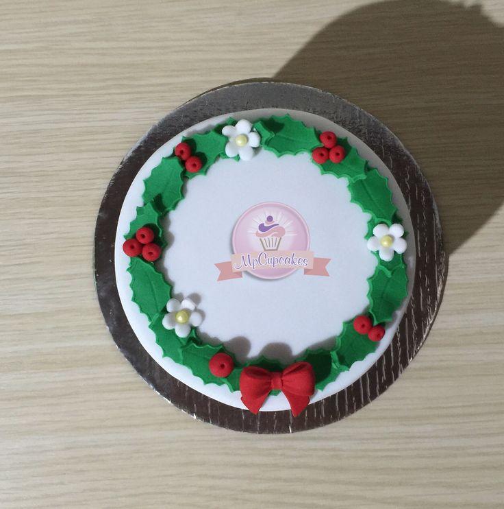 Mini torta corona de navidad
