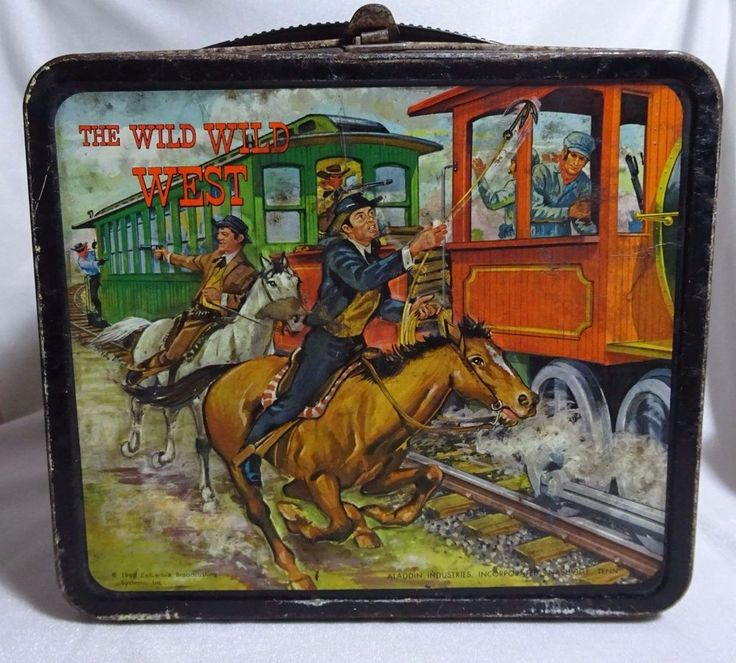 antique The Wild Wild West (Aladdin) 1969 Lunch Box metal tin display NO thermos   Collectibles, Pinbacks, Bobbles, Lunchboxes, Lunchboxes, Thermoses   eBay!