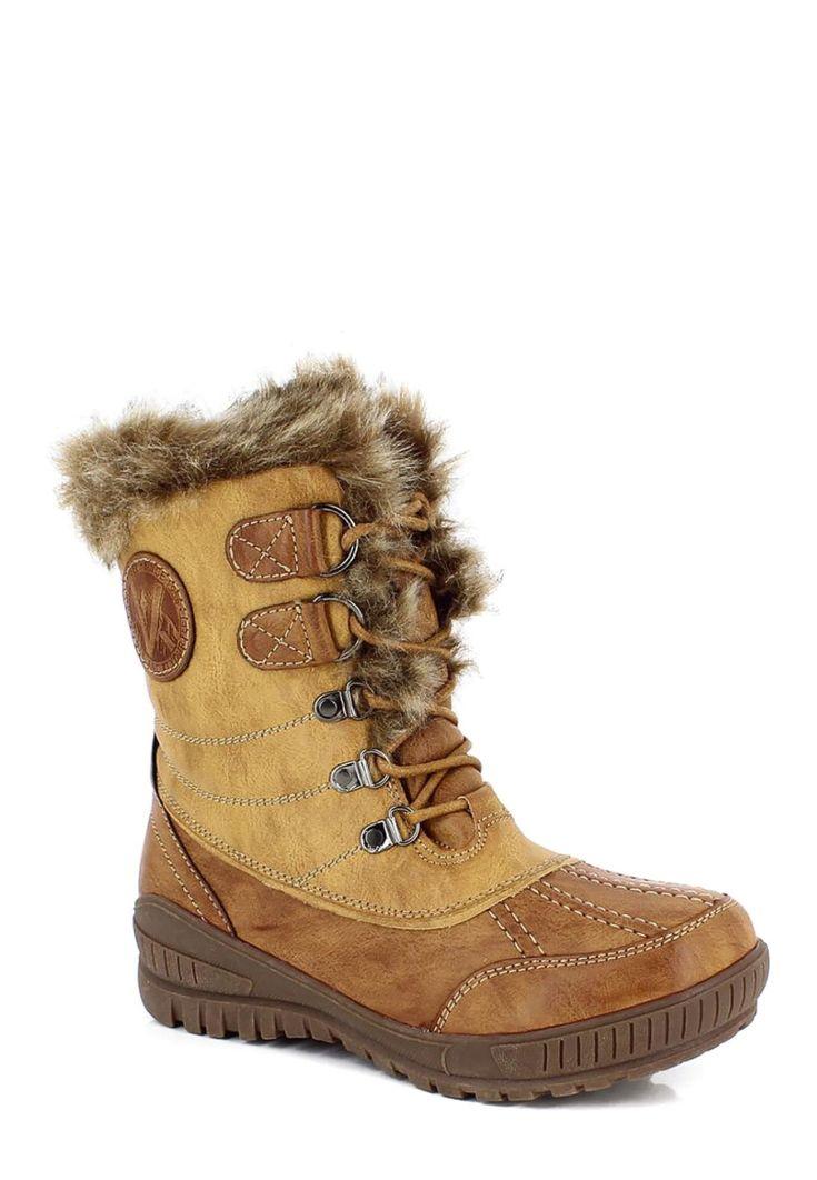 Kimberfeel Snow-Boots Sahra, gefüttert, braun Jetzt bestellen unter: https://mode.ladendirekt.de/damen/schuhe/boots/snowboots/?uid=771d6113-d410-51ef-8110-cd258b229b17&utm_source=pinterest&utm_medium=pin&utm_campaign=boards #snowboots #boots #schuhe #bekleidung Bild Quelle: brands4friends.de