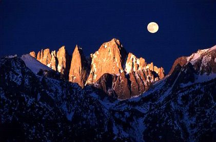 Go to Mt. Whitney - the highest summit in the contiguous United States.