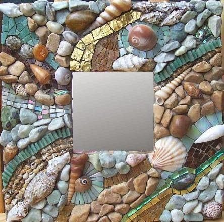 Creative Ikea Malma Mirror Hacks with Shells, Driftwood & Seaglass - Completely Coastal