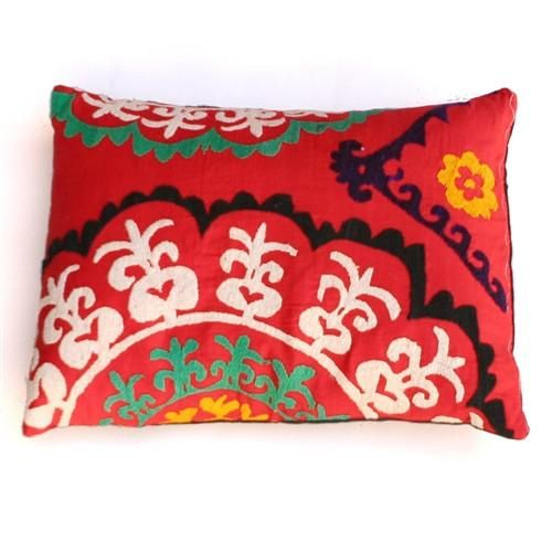 Vivid Florals Suzani Pillow No 2 Florals Pillows And Tapestry