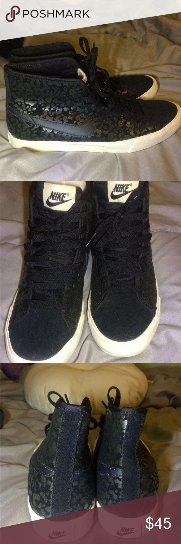 Black Nike Leopard Print Sneakers Nike Primo Court Leopard Print Suede Black High Top Sneakers Nike Shoes Sneakers