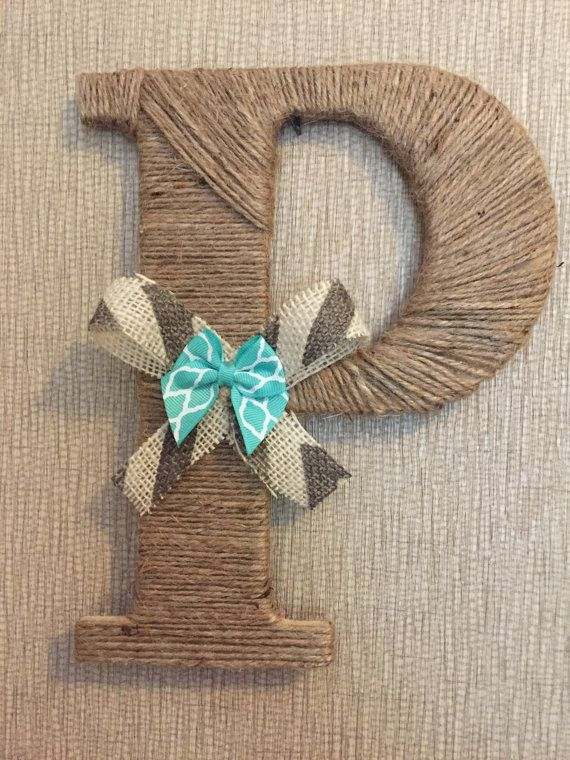 Twine Wrapped Letter with Double Bow by thepaisleypunch on Etsy