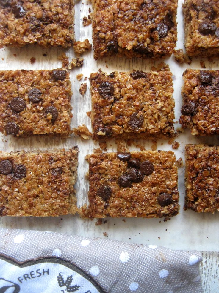 Deliciously Chewy Chocolate Chip Flapjacks -