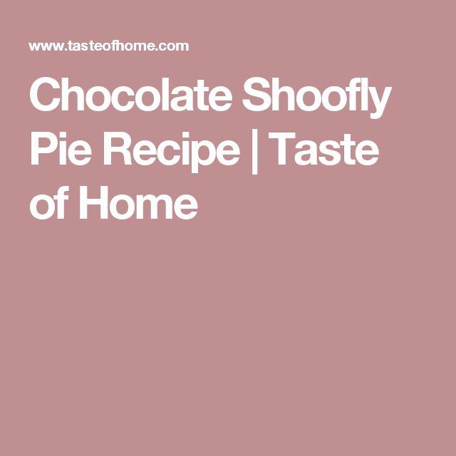 Chocolate Shoofly Pie Recipe   Taste of Home