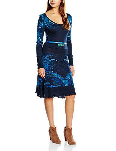 Desigual Lorena - Robe - Trapèze - Imprimé - Manches longues - Femme - Bleu (Navy) - FR: 36 (Taille fabricant: XS) Desigual http://www.amazon.fr/dp/B00VMBFJB6/ref=cm_sw_r_pi_dp_obA8vb1FYCCCT
