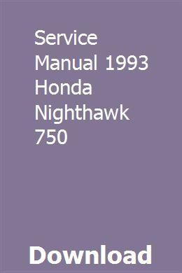 Bedienungsanleitung 1993 Honda Nighthawk 750 pdf herunterladen   – treadsupulmo