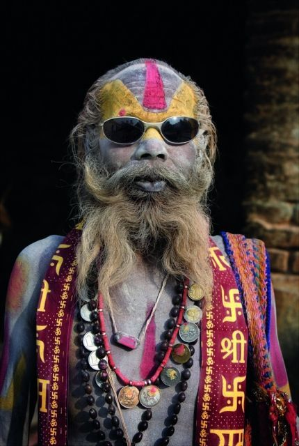 A Sadhu with a sense of style, that really made me laugh :D
