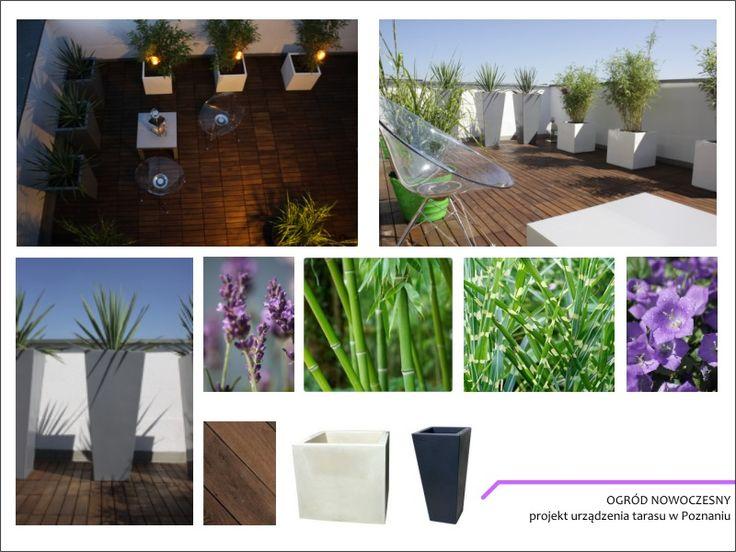 Projekt ogrodu nowoczesnego (taras) - Green up