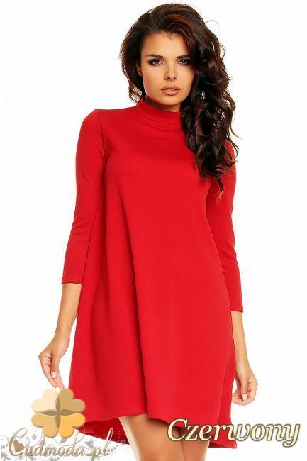 Elegancka sukienka damska z półgolfem wielkości mini wyprodukowana przez NOMMO.  #cudmoda #moda #styl #ubrania #odzież #clothes #dresses