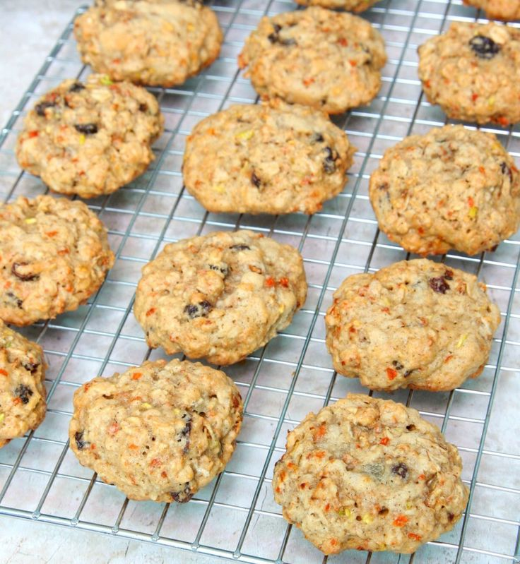 Oatmeal Cookies with Zucchini and Carrots