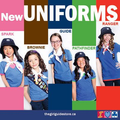 New Canadian GG uniforms. So glad I found this- we're presenting Canada for Thinking Day 2015!