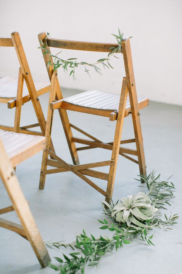 ceremony seating decor - photo by Heart and Sparrow http://ruffledblog.com/modern-industrial-wedding-editorial
