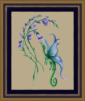 Little Snap Dragon - Cross Stitch Pattern  Kustom Krafts