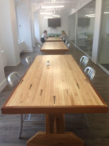 12 Best Dining Tables Salvaged Bowling Lane Wood Images