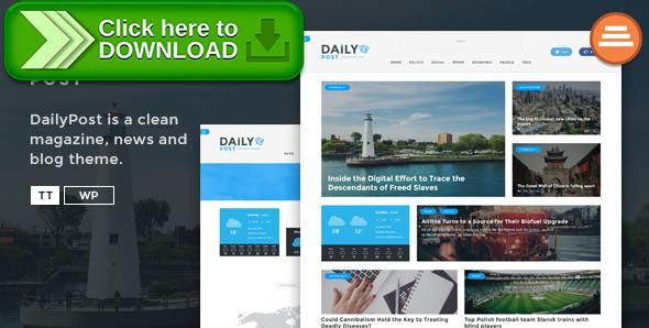 [ThemeForest]Free nulled download Daily Post - News Magazine and Blog Template from http://zippyfile.download/f.php?id=8317 Tags: article, blog, editorial, jurnal, magazine, modern, news, newspaper, post, publishing, rating, responsive, review, simple paper, upload news