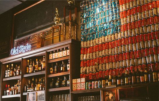 Love this! The new #beer can flag at #BubCit in #Chicago. You have to see if for yourself! #DIY