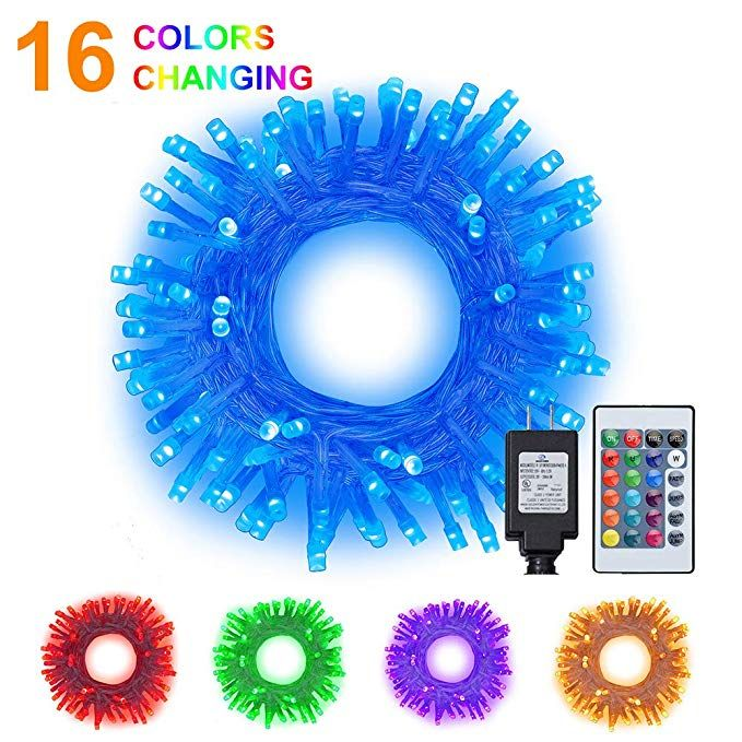 Ollny String Lights 10m 100 LED USB Powered,16 Multi Colour Changing 4 Modes