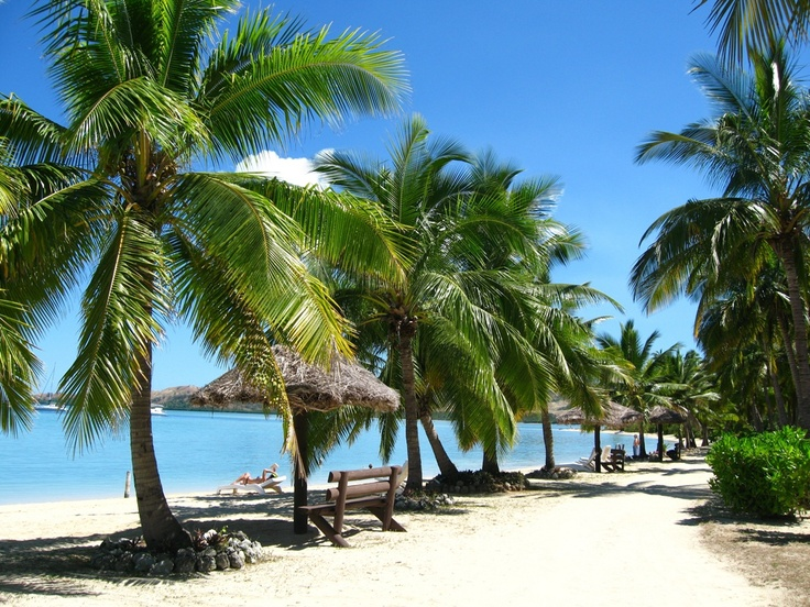 Beautiful Beach,  Nadi, #Fiji  (Can you hear it? The wind is Whispering in the Palm Fronds)