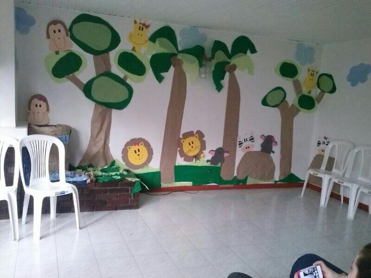 Decoracion babyshower selva