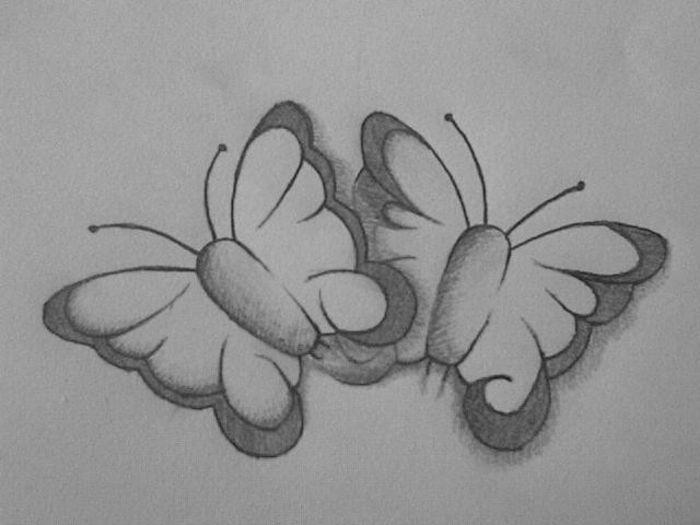 Desene in creion cu fluturi - deeascumpik