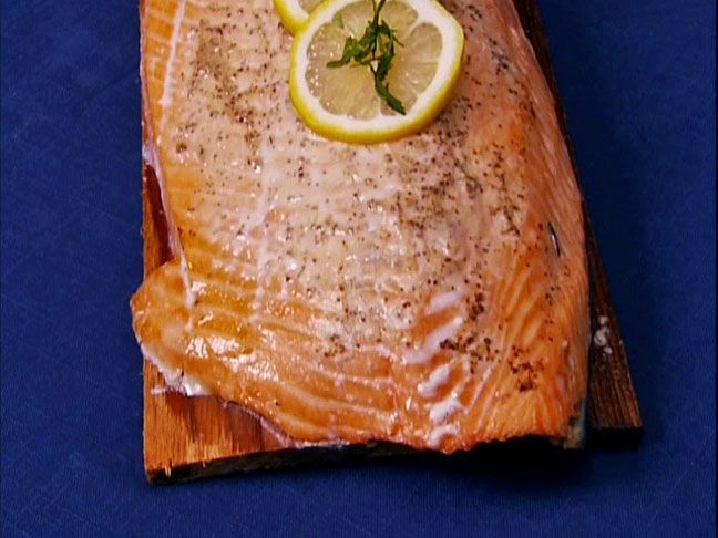 Cedar Plank Rum Salmon from FoodNetwork.com